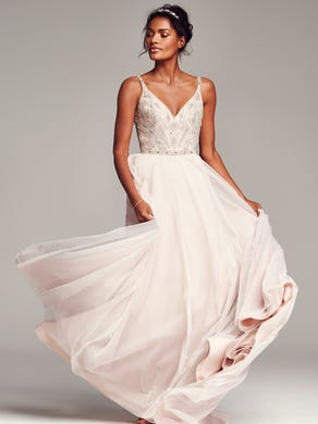 5252864e4e958 Hayley Paige 'Roxanne' Beaded Bodice Gown, ...