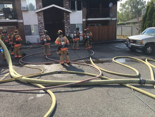 Apartment fire closes Hawthorne Ave NE