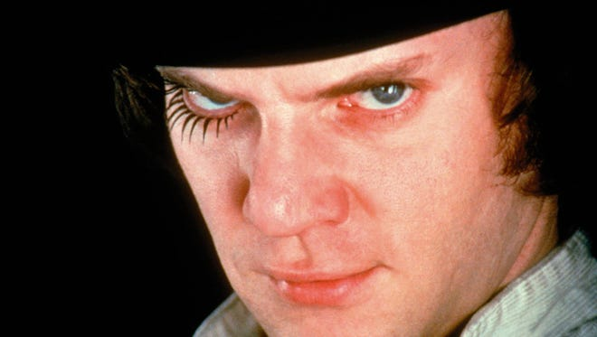 """No time for the old in-out, love, I've just come to read the meter,"" Malcolm McDowell as Alex the droog in ""A Clockwork Orange."""
