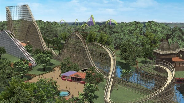 El Toro roller coaster at Six Flags Great Adventure, Jackson.