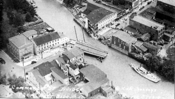 """A view of Bridgeton's Commerce Street bridge in the wake of the 1934 floods.From """"Bridgeton: In and Around the Old County Town"""" by Bill Chestnut."""