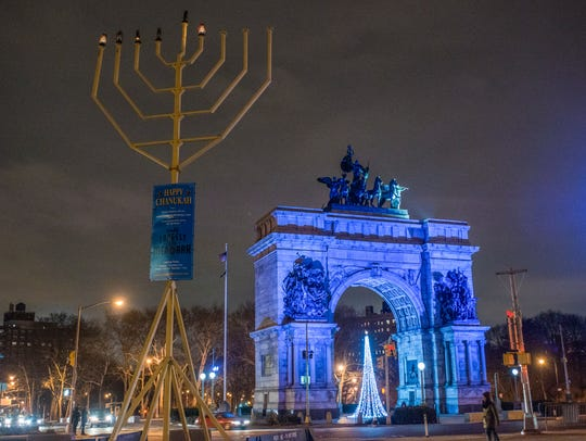 Grand Army Plaza Menorah, Prospect Park, Brooklyn. Photo @nycgo.com