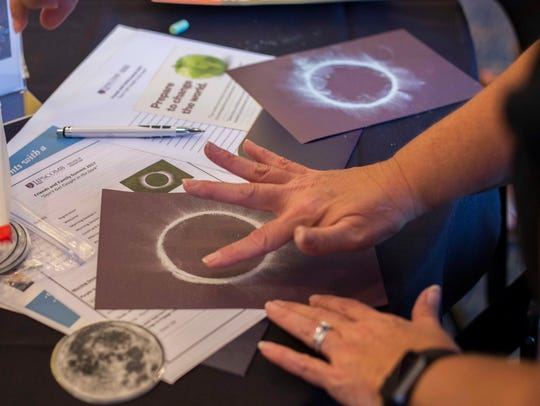 Teachers create eclipse-themed crafts they can introduce