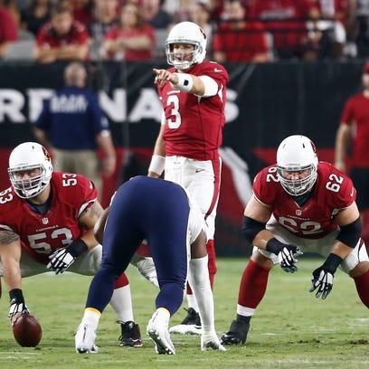 Cardinals offensive linemen A.Q. Shipley, Ted Larsen,