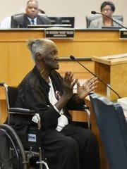 Margaret Edmonson speaks to the Caddo Parish Commission.