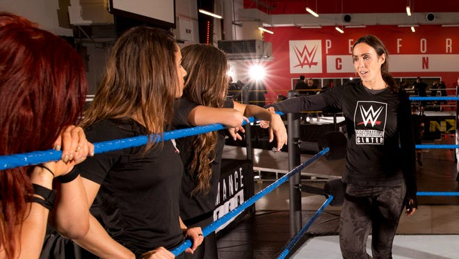 Sara Amato was hired as the first female coach in WWE history in 2012 and was recently named the company's inaugural director of women's wrestling.