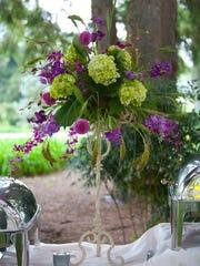 Floral arrangements aren't necessarily all flowers