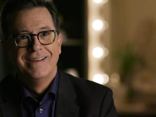 Stephen Colbert, in a scene from the Hulu documentary