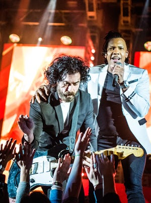 Jody Davis and Michael Tait of the Newsboys play as part of Big Church Night Out tour, headed to Germain Arena in Estero on Oct. 29.