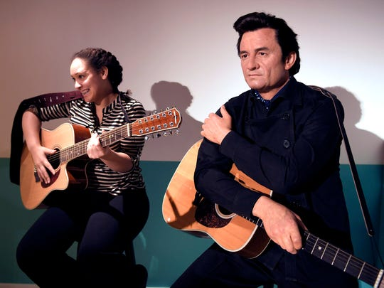 Meet Johnny Cash (kind of) at Madame Tussauds at Opry Mills.