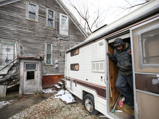 Stanley Thompson, 70, of Detroit has been living in
