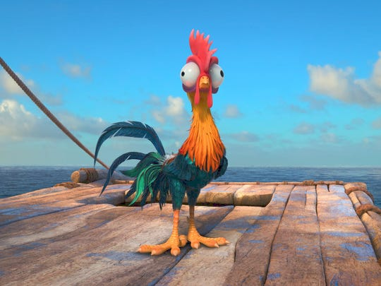 Alan Tudyk lent his own crows to voice the not-so-bright rooster Heihei.