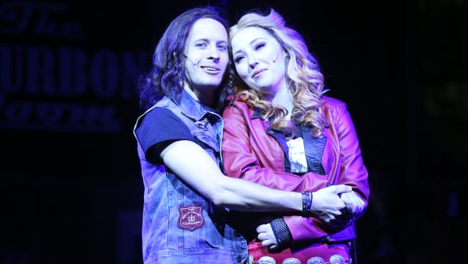 """Aaron Crosby as Drew and Erin Tawney as Sherrie in """"Rock of Ages."""""""