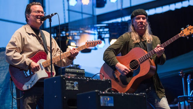 The Milwaukee-born Violent Femmes, co-founded by Gordon Gano (left) and Brian Ritchie (left), perform at the BMO Harris Pavilion Friday.