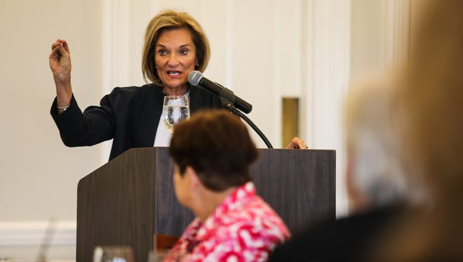 Barbara Zdravecky, CEO of Planned Parenthood of Southwest and Central Florida spoke about the state of the organization under the Trump administration at the Tiburon Golf Club Thursday, April 6, 2017. The event was hosted by the Naples Press Club.