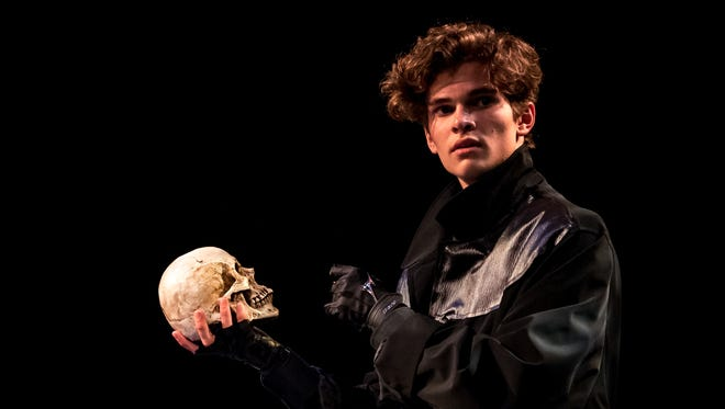 Jack Cain, in the role of Hamlet, was part of the Appleton North High School production.