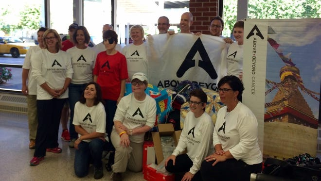 An Above + Beyond Cancer team left Des Moines for Nepal on Wednesday, Sept. 9, 2015.
