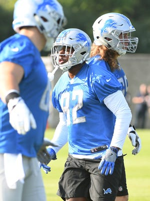 Newly acquired tight end Tim Wright comes back to the Lions during Wednesday's training camp.