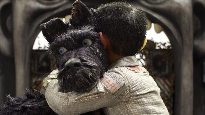 """Chief, voiced by Bryan Cranston, appears in a scene from """"Isle of Dogs."""""""