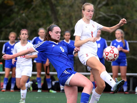 Pearl River and Tappan Zee played to a 0-0 overtime draw during girls soccer game at Tappan Zee High School on Sept. 20, 2017.