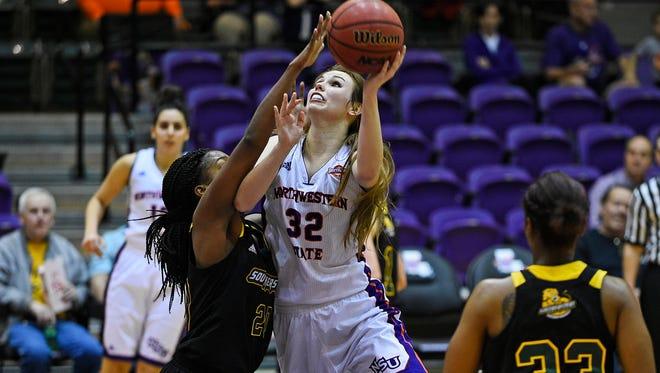 NSU's Cheyenne Brown had 16 points in a win over SLU.