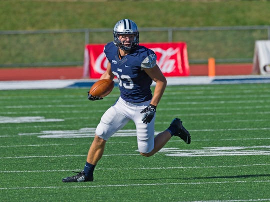 Evan Horn a standout season for the New Hampshire football team in the fall, helping the team to the NCAA playoffs.
