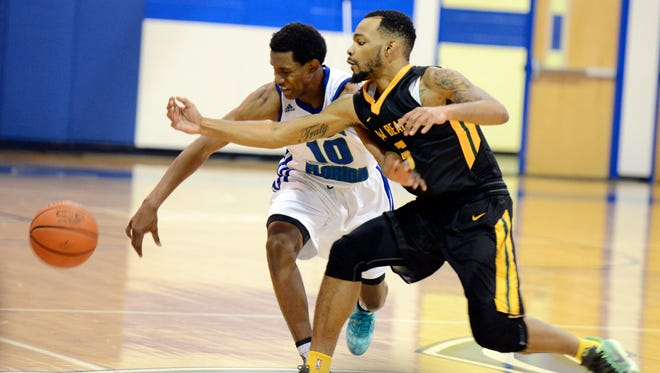 C.J. Jackson, left, of Eastern Florida State College, was named a second team All-American.
