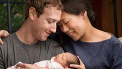 Mark Zuckerberg and wife Priscilla Chan with newborn