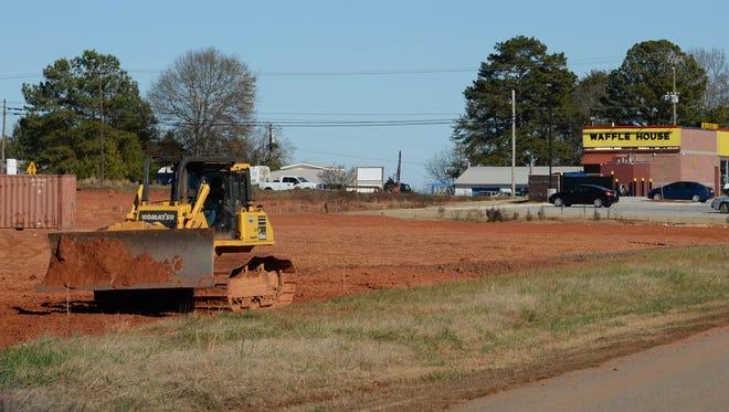 Construction grading along U.S. Highway 76, near the Milliken Plant in Pendleton.