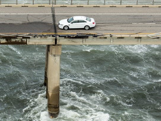 A truck driver died after his truck smashed through a guardrail on the Chesapeake Bay Bridge-Tunnel.