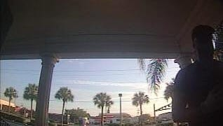 Cape Coral police believe the man shown here is linked to a credit card sklimming device placed at SunTrust Bank in Cape Coral. He left in the car in the background.