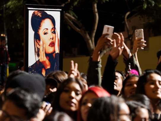 A portrait of the late singer Selena Quintanilla is