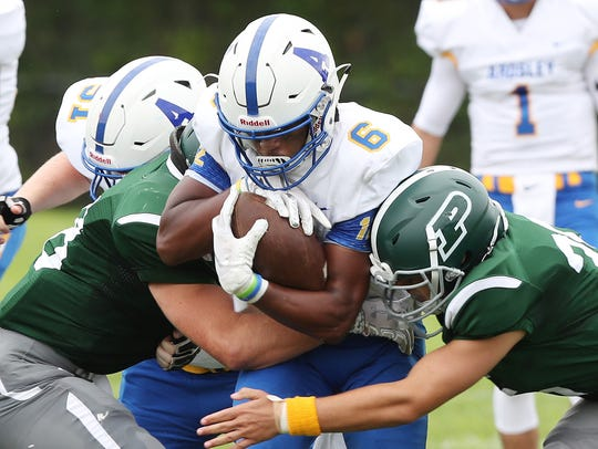 Ardsley defeated Pleasantville 34-6 in football action