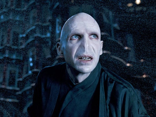 Lord Voldemort (Ralph Fiennes) is up to no good in