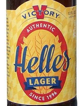 Victory Helles Lager from Victory Brewing Co. in Downingtown, Pa., is 4.8% ABV.