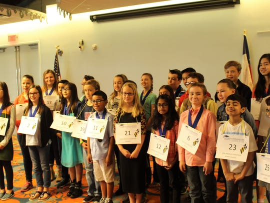 Twenty-five students, ranging from kindergarten to 8th grade, competed at the 30th annual San Angelo Spelling Bee.