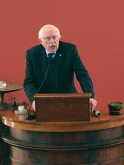 Sen. Bernie Sanders speaks during the annual Dr. Martin