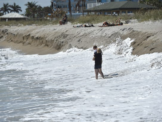 Rough surf conditions, as seen on Monday, March 5,