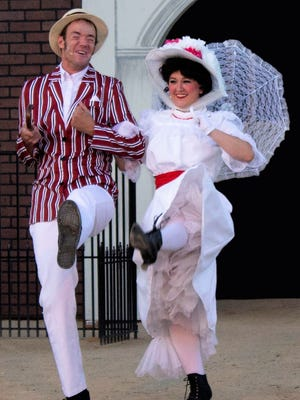 """The Sandstone Productions presentation of """"Mary Poppins"""" continues Thursday through Saturday at the Lions Wilderness Park Amphitheater in Farmington."""