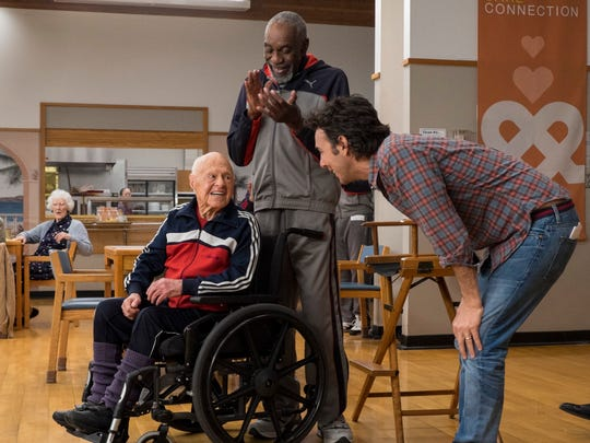 Bill Cobbs applauds director Shawn Levy and Mickey