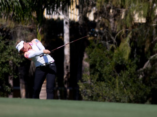 Brooke Henderson during the CME Group Tour Championship at Tiburon Golf Club Thursday, Nov. 17, 2016 in Naples.
