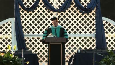 Dr. David Browne at Randolph High School graduation, 2014