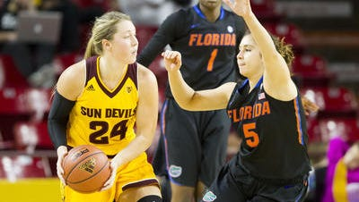 Junior forward Kelsey Moos had 11 points, 8 rebounds, career high 8 assists in ASU's 69-63 win over Florida.