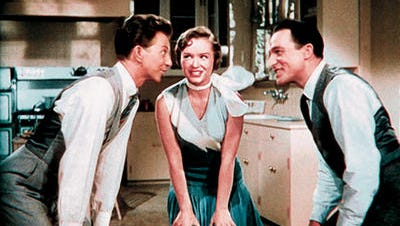 """Native El Pasoan Debbie Reynolds, who died in December, co-starred with Donald O'Connor, left, and Gene Kelly in the 1952 classic """"Singin' in the Rain."""""""