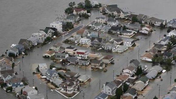 Flooding along Barnegat Bay after Sandy