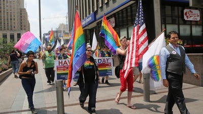 A rally this summer on Fountain Square in support of same-sex marriage.