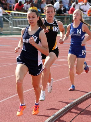 Granville's Micaela DeGenero competes in the 1600 meter run Saturday at the State Track and Field Tournament at Jesse Owens Memorial Stadium at Ohio State University in Columbus.