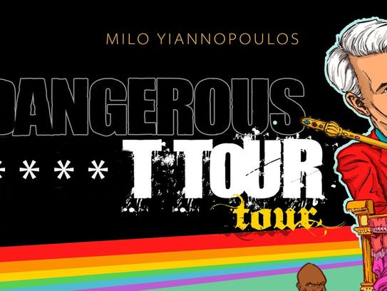The promo image for Yiannopoulos' tour.  *Image has