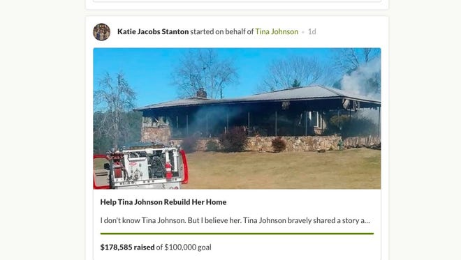 This is the GoFundMe page for Tina Johnson.