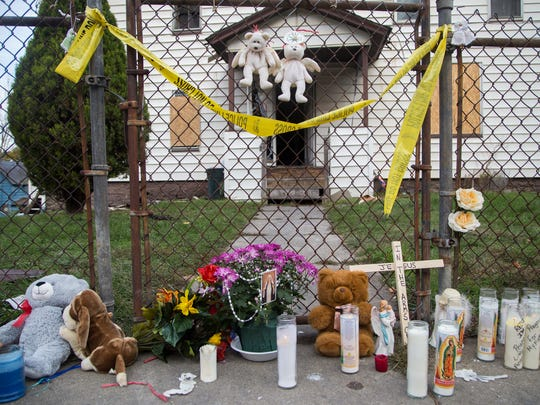 A memorial for the victims of the Oct. 19, 2015 arson at 145 Floral Ave. in Johnson City.